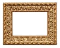 Gold farbiger Bilderrahmen Stockbild