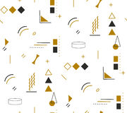 Gold fashion geometric pattern in Memphis style Stock Image
