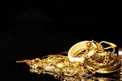 Gold fashion jewelry. Stock Images