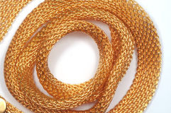 Gold  fat wattled chains Stock Image