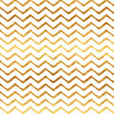 Gold Faux Foil Chevron Metallic Pattern Stock Images