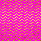 Gold Faux Foil Chevrons Metallic Hot Pink Magenta Background Royalty Free Stock Photo