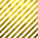 Gold Faux Foil Metallic Diagonal Stripes White Background Stock Photo