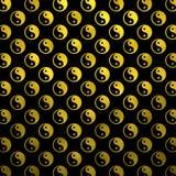 Gold Faux Foil Metallic Yin Yang Tao Balance Chinese Taoism. Gold Black Faux Foil Metallic Yin Yang Taoism Balance Chinese Tao Symbol Background Texture Pattern Royalty Free Stock Photos