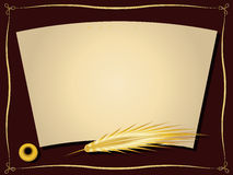 Gold feather framework Royalty Free Stock Photo