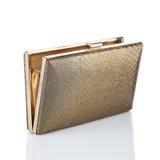 Gold female clutch Stock Photo