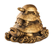 Gold feng-shui turtles_1 Stock Photography
