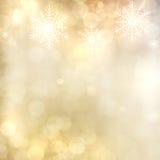 Gold Festive Christmas background. Royalty Free Stock Photos