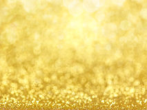 Gold Festive Christmas background. Royalty Free Stock Photography
