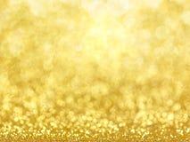 Gold Festive Christmas background. Royalty Free Stock Photography