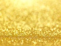 Gold Festive Christmas background. Stock Image
