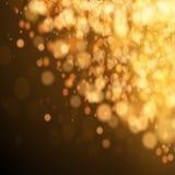 Gold Festive Christmas background. Royalty Free Stock Image