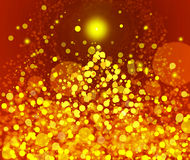 Gold Festive Christmas background. Elegant abstract background Stock Photography
