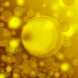 Gold Festive Christmas background. Elegant abstract background. Blur Royalty Free Stock Photography