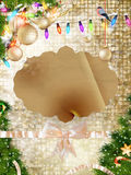 Gold Festive Christmas background. EPS 10. Gold Festive Christmas background. Elegant abstract background with bokeh defocused lights. EPS 10 vector file Stock Photography