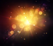 Gold Festive Christmas Background Stock Images