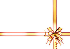 Gold festive ribbon with a red border Stock Image