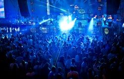 Gold Fever Amnesia Ibiza Festival in Moscow Stock Photos