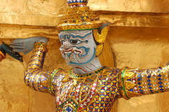 Gold figure in Grand Palace, Bangkok Royalty Free Stock Image