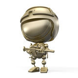 Gold figurine of soldier with riflescope Royalty Free Stock Photos