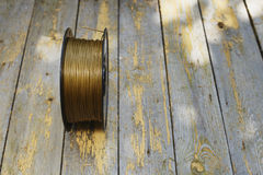 Gold filament Royalty Free Stock Photo