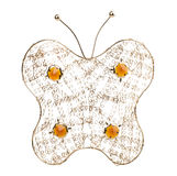 Gold filigree butterfly on a white background Royalty Free Stock Photos