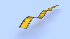 Gold  film strip Royalty Free Stock Image