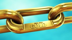 Gold fine chain close up. Chain of fine gold. Finance and investment concept Royalty Free Stock Photo