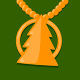 Gold fir-tree Stock Image