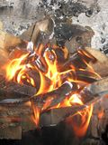 Gold fire Stock Images