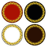 Gold fire circle frame Stock Photography