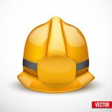 Gold fireman helmet vector illustration Royalty Free Stock Photography