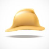 Gold fireman helmet vector side view Stock Image