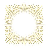 Gold firework design on white background. With copy space Royalty Free Stock Photos