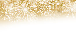 Gold fireworks background. With copy space Royalty Free Stock Image