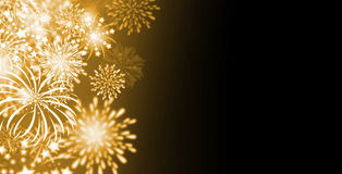 Gold fireworks background Royalty Free Stock Image