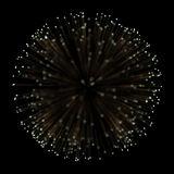 Gold fireworks light explosion effect background for premium product design. Royalty Free Stock Photo