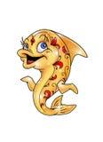Gold Fish 1. Golden fish bright glad creates magic Stock Photos