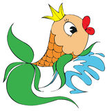 Gold fish. Vector clip-art / children's illustration for your design Royalty Free Stock Photography