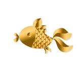 Gold fish. Art Nouveau vector illustration Stock Images