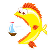 Gold fish and boat Stock Image