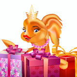 Gold fish bright gifts Royalty Free Stock Photography