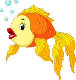 Gold fish with bubbles. Illustration of Gold fish with bubbles royalty free illustration