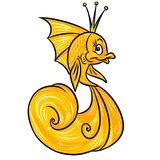 Gold fish cartoon illustration Royalty Free Stock Images