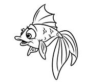 Gold fish coloring pages Stock Photography