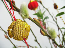 Gold Fish Ornament Royalty Free Stock Image