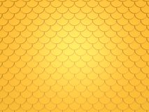 Gold fish pattern. 3d render Royalty Free Stock Photo