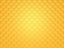 Gold fish pattern. 3d render vector illustration