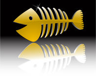 Gold fish skeleton Royalty Free Stock Photos