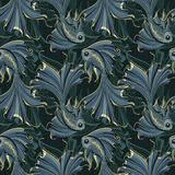 Gold fishes seamless pattern Stock Photography